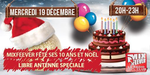 Mercredi 19 Décembre - Libre Antenne MixFeever
