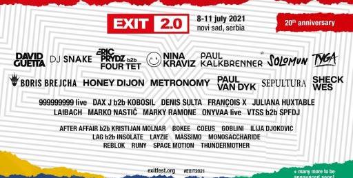 exit 2.0 du 8 au 11 Juillet 2021 en Serbie